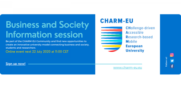 CHARM-EU Information Session Business and Society