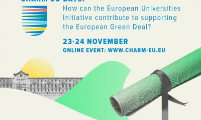 Save the Date | CHARM-EU Days How can European Unviersities Initiative contribute to the European Green deal?